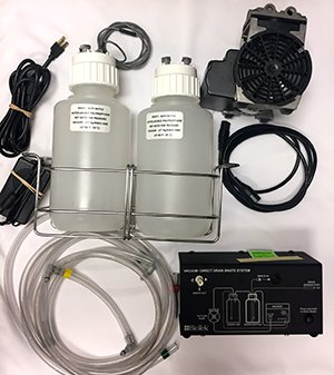 Complete Direct Drain Waste System 115V/230V, 4L Bottles