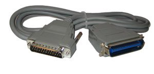 Parallel Printer Cable (25-pin male to 36-pin male)