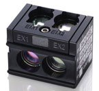 Blue filter set: EX 360/40 | EM 460/40 | DM 400 / Green filter set: EX 485/20 | EM 528/20 | DM 510