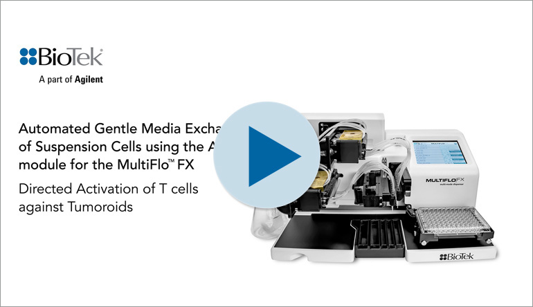Automated Gentle Media Exchange of Suspension Cells using the AMX™ module for the MultiFlo™ FX